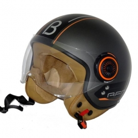 HELMET BEON B-110B CHRONO GREY - BLACK - ORANGE