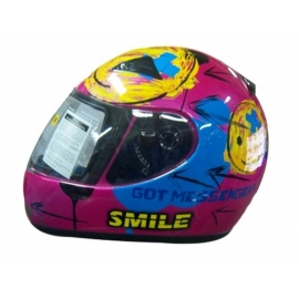 ZEUS ZS-2000 PINK BLUE CHILD MOTORCYCLE HELMET