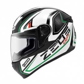 MOTORCYCLE HELMET ZEUS ZS-811 AL3 BLACK WHITE GREEN