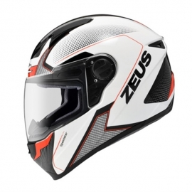 MOTORCYCLE HELMET ZEUS ZS-811 AL6 WHITE BLACK RED