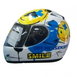 KID'S MOTORCYCLE HELMET ZEUS ZS-2000 WHITE