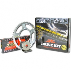 CHAIN AND SPROCKET KIT ΜΟΤΟ JT FOR HONDA XLV 600 / 700 TRANSALP X RING BLACK