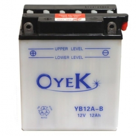 BATTERY MOTO OYEK YB12A-B FOR HONDA XLV 600 TRANSALP