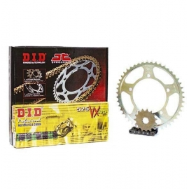 CHAIN AND SPROCKET KIT ΜΟΤΟ DID - JT FOR HONDA XLV 650 TRANSALP X RING BLACK
