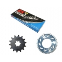 CHAIN AND SPROCKET KIT ΜΟΤΟ EK 525 QX-RING FOR HONDA XLV 600 / 700 TRANSALP