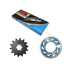 CHAIN AND SPROCKET KIT ΜΟΤΟ EK 525 QX-RING FOR HONDA XLV 700 TRANSALP