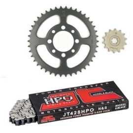 CHAIN AND SPROCKET KIT JT O-RING FOR YAMAHA CRYPTON 105