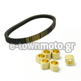 DRIVE BELT SCOOTER MITSUBOSHI & DR.PULLEY SR RACING VARIATOR ROLLERS 12grI FOR PEUGEOT GEO RS, GEOPOLIS, GEOSTYLE 300