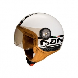 HELMET BEON B-110 WHITE BLACK