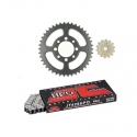 CHAIN AND SPROCKET KIT JT O-RING FOR KAWASAKI KAZE-R 115 2000-2004