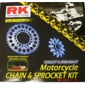 CHAIN AND SPROCKET KIT RK 525 GXW FOR HONDA CBF 600, CBF 600 N 2004-2007