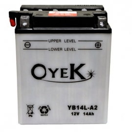 BATTERY ΜΟΤΟ OYEK YB14L-A2 FOR APRILIA SCARABEO LIGHT 500 2008-2013