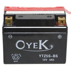 BATTERY ΜΟΤΟ OYEK YTZ5S-BS FOR HONDA WAVE 110, MODENAS X-CITE 130, SUZUKI ADDRESS 125, YAMAHA CRYPTON-X 135