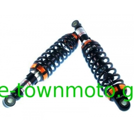 SUSPENSION SET APIDO RACING REAR FOR YAMAHA CRYPTON-R 115 - 110, HONDA C50 - Z-50 J - Z-50 MONKEY BLACK/ORANGE 270mm