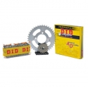 CHAIN AND SPROCKET KIT ΜΟΤΟ DID FOR YAMAHA CRYPTON R 115 100 Black Chain