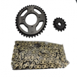 CHAIN AND SPROCKET KIT ΜΟΤΟ X GEAR FOR KAWASAKI KAZE-R 115 - MODENAS KRISS II