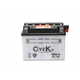 BATTERY MOTO OYEK YB4L-B FOR APRILIA RS, RX, SONIC, SX, 125 / 250, SUZUKI GS 125