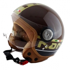HELMET BEON B-110 Brown + Cream